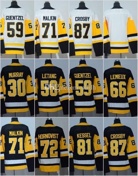 AD Pittsburgh Penguins 2018 Ice Hockey Jerseys Men 58 Kris Letang 30 ... e07bd1411