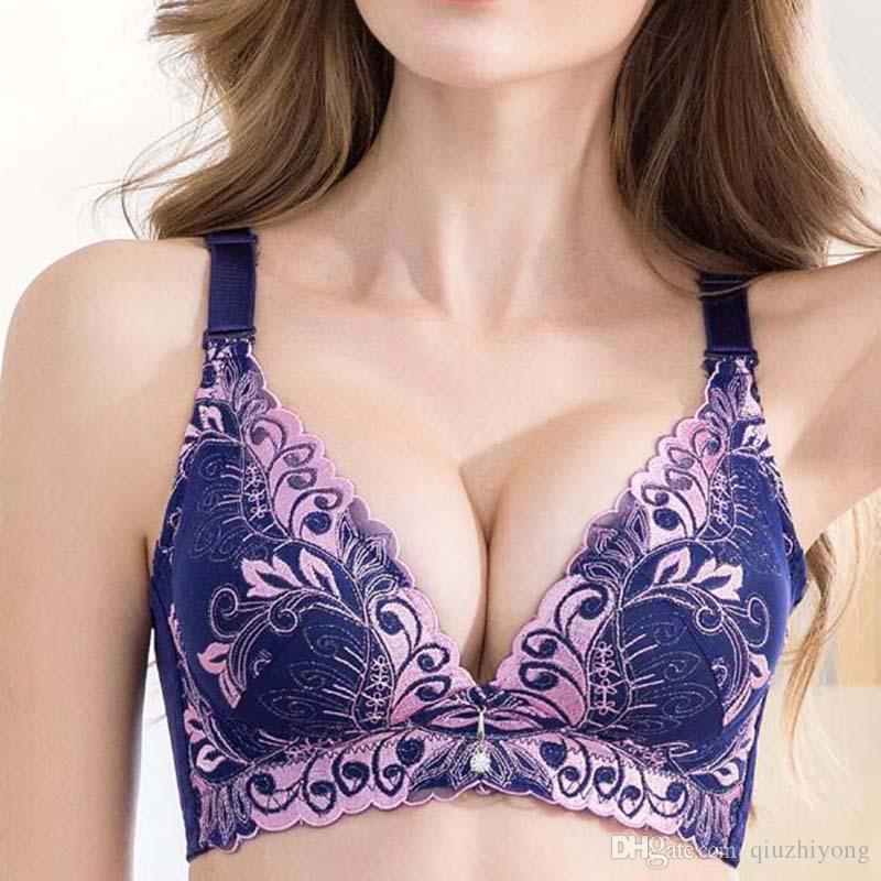 570e32da853d6 Embroidery Bra Wireless Plus Size Adjustable High Uality Women Bras ...