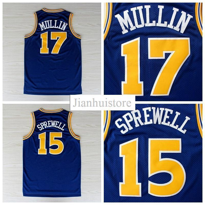2017 New Arrival #17 Chris Mullin #15 Latrell Sprewell Stitched ...