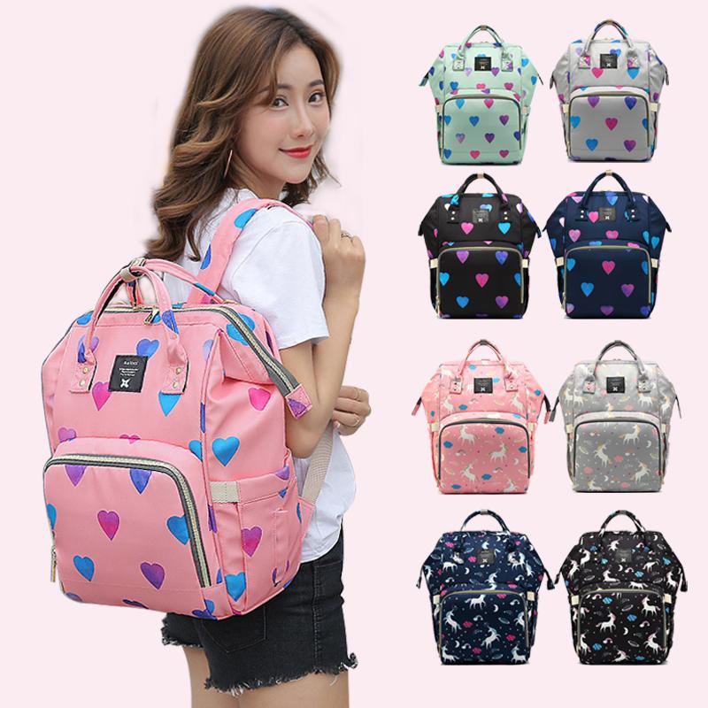 484befaae9c Diaper Bag Mummy Maternity Travel Print Backpack Nappy Changing Bags ...
