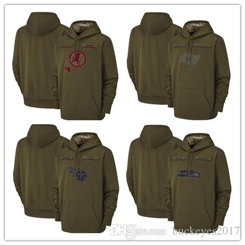 2019 Washington Redskins Seattle Seahawks Tampa Bay Buccaneers Tennessee  Olive Titans Salute To Service Sideline Therma Pullover Hoodie From  Buckeyes2017 756365fd4