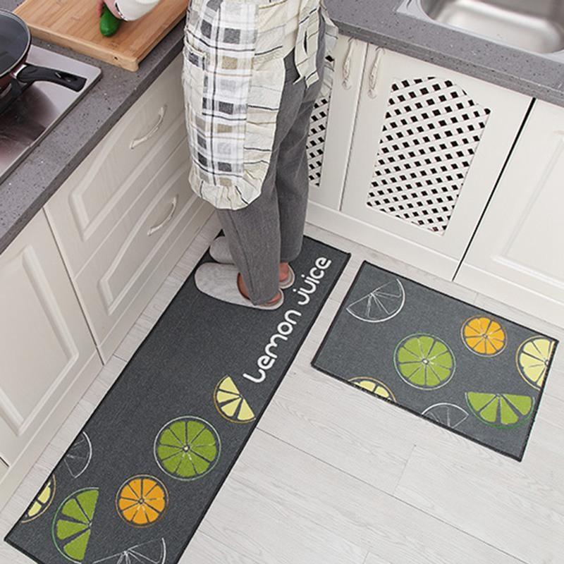Tappeti di qualità superiore Tappeti per cucina per porch Tappeti per  cucina ad acqua e ad olio Tappetini per moquette antiscivolo per bagno 2 Pz  / ...