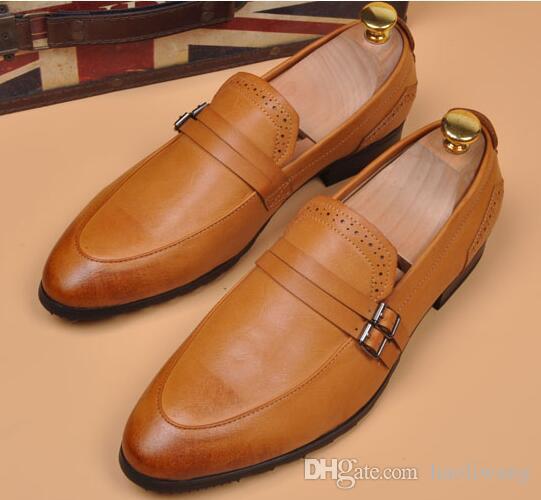 9b7758961 Compre Mocasines Para Hombre Zapatos De Cuero Para Hombres Zapatos De Cuero Para  Hombres Zapatos De Cuero Para Hombres De Negocios Casual Mocasines ...