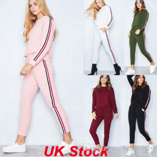 2881cfca7b73fd Großhandel UK Womens Trainingsanzüge Set Damen Striped Active Sport  Loungewear Größe 6 16 Von Beautifuly, $46.99 Auf De.Dhgate.Com | Dhgate