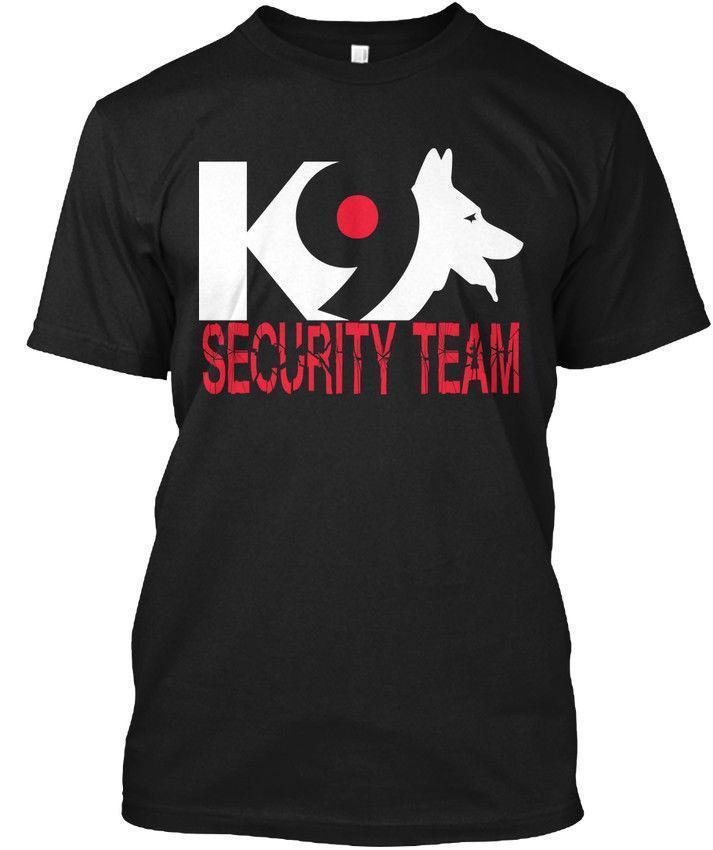6609e1be6e Acheter K9 Security Team Tee,, T Shirt En Coton Avec Manches Cool Et Casual  De $15.53 Du Liguo0058 | DHgate.Com