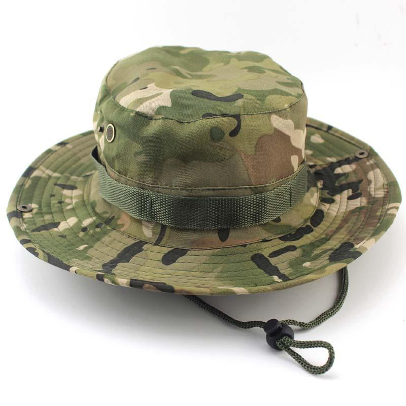2019 Tactical Airsoft Sniper Camouflage Boonie Hats Men And Women Outdoor  Mountaineering Cap Hunting And Fishing Hat From Haohi 2fa8a17ef993