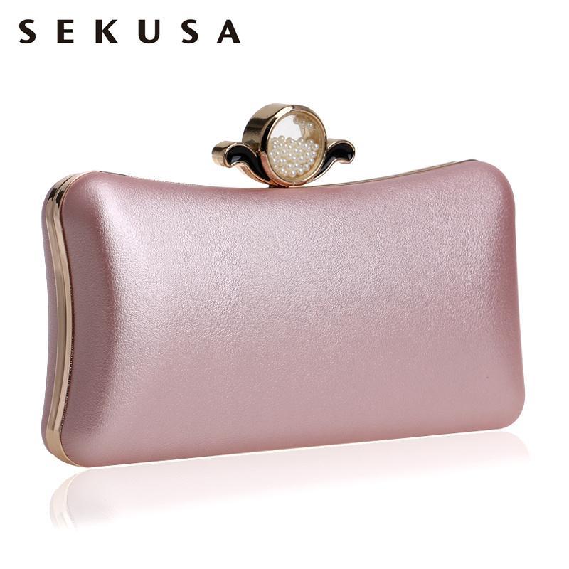 49f60979939a SEKUSA Fashion Pu Women Clutch Chain Shoulder Messenger Bag Eye ...