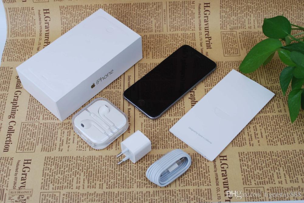 Apple iphone 6 desbloqueado celular 4,7 polegada 16GB / 64GB / 128GB A8 iOS 8,0 4G FDD sem impressão digital remodelado