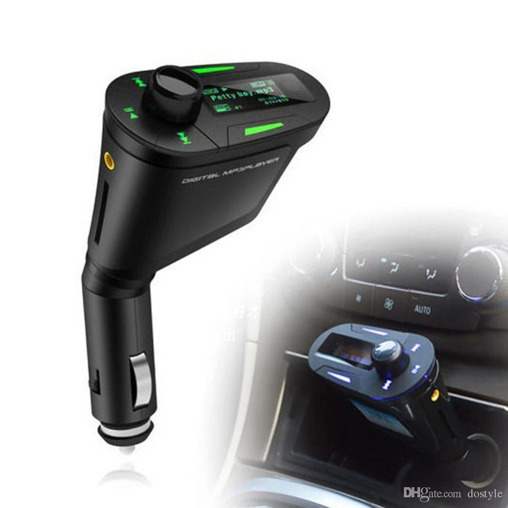 Universal Car Kit music Player transmissor FM Adaptador de Rádio USB SD MMC Carregador de carro Kit MP3 Player não-Bluetooth FM Transmitir áudio do carro