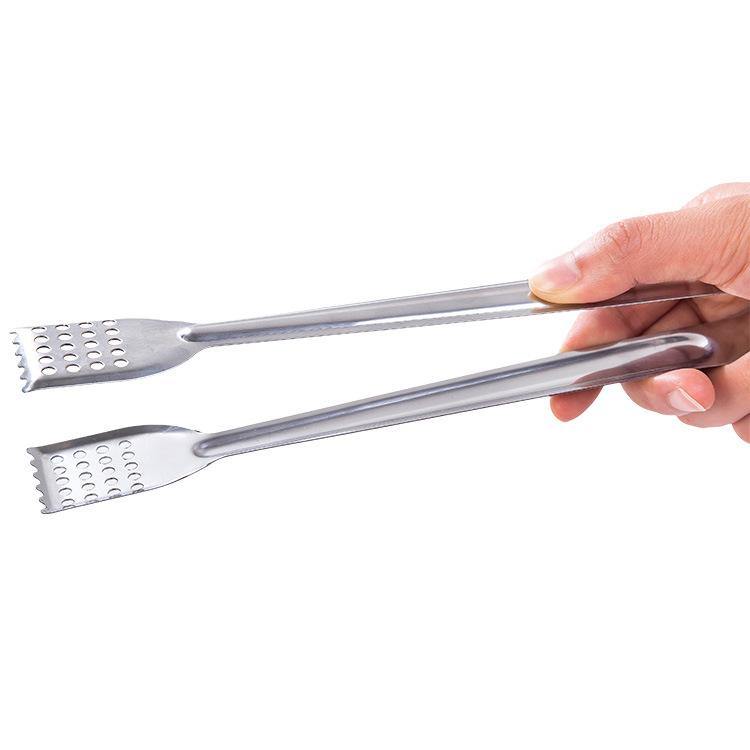 2pcs/set Stainless Steel Food Tongs Kitchen Utensils Gadgets Bbq Meat Cooking Serving Tong