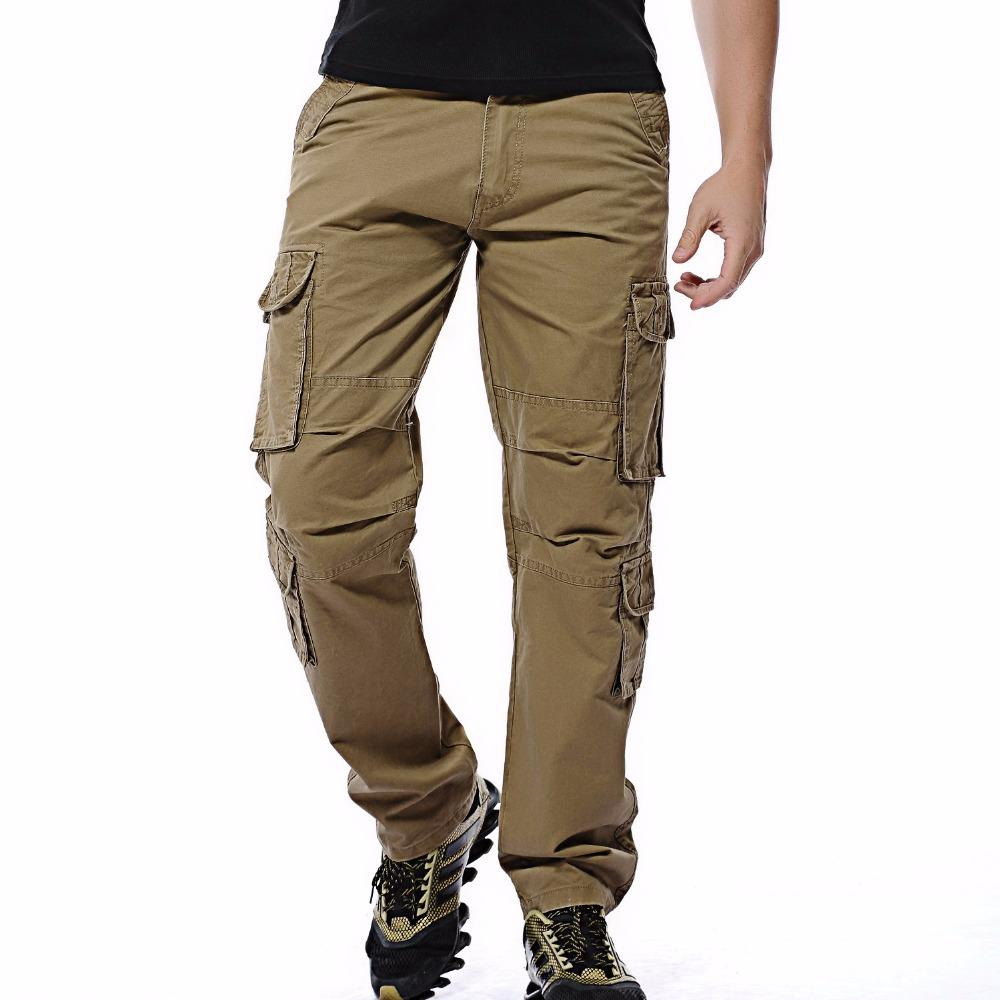 c7d100f8b8a 2019 2018 New Men Cargo Pants Mens Loose Army Tactical Pants Multi Pocket  Trousers Pantalon Homme Big Size 46 Male Overalls From Erzhang