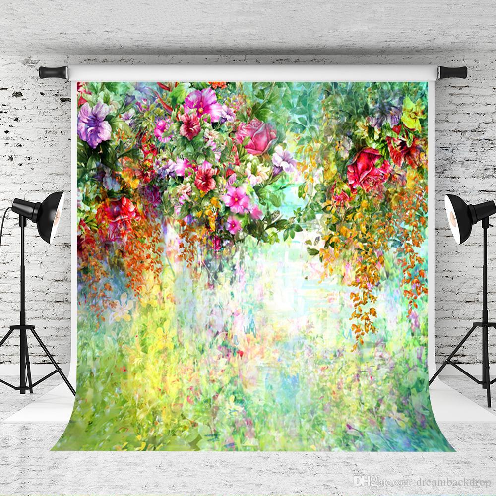 Compre Sueño 5x7ft Flores De Colores Contexto De La Boda Para La