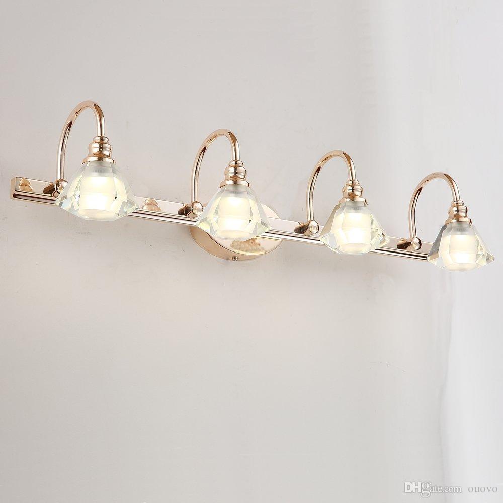 Compre Moderno LED Cabezas De Cristal Cuarto De Baño Lámpara De ...