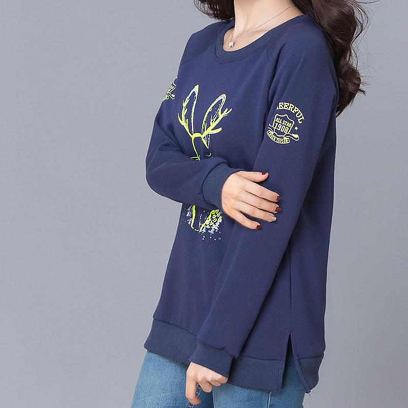 2017 New Arrival Casual Loose Women Hoodies Pullovers Rabbit Cartoon Print Women Sweatshirts Tracksuit Moletom Plus Size M-4XL