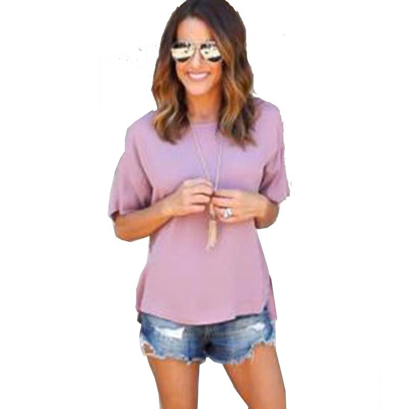 Analytical 2019 Women Blouse Tops Summer Top Casual Loose Short Sleeve Sequins V-neck Blouses Female Shirts Vest Blusa Plus Size Moderate Price Women's Clothing