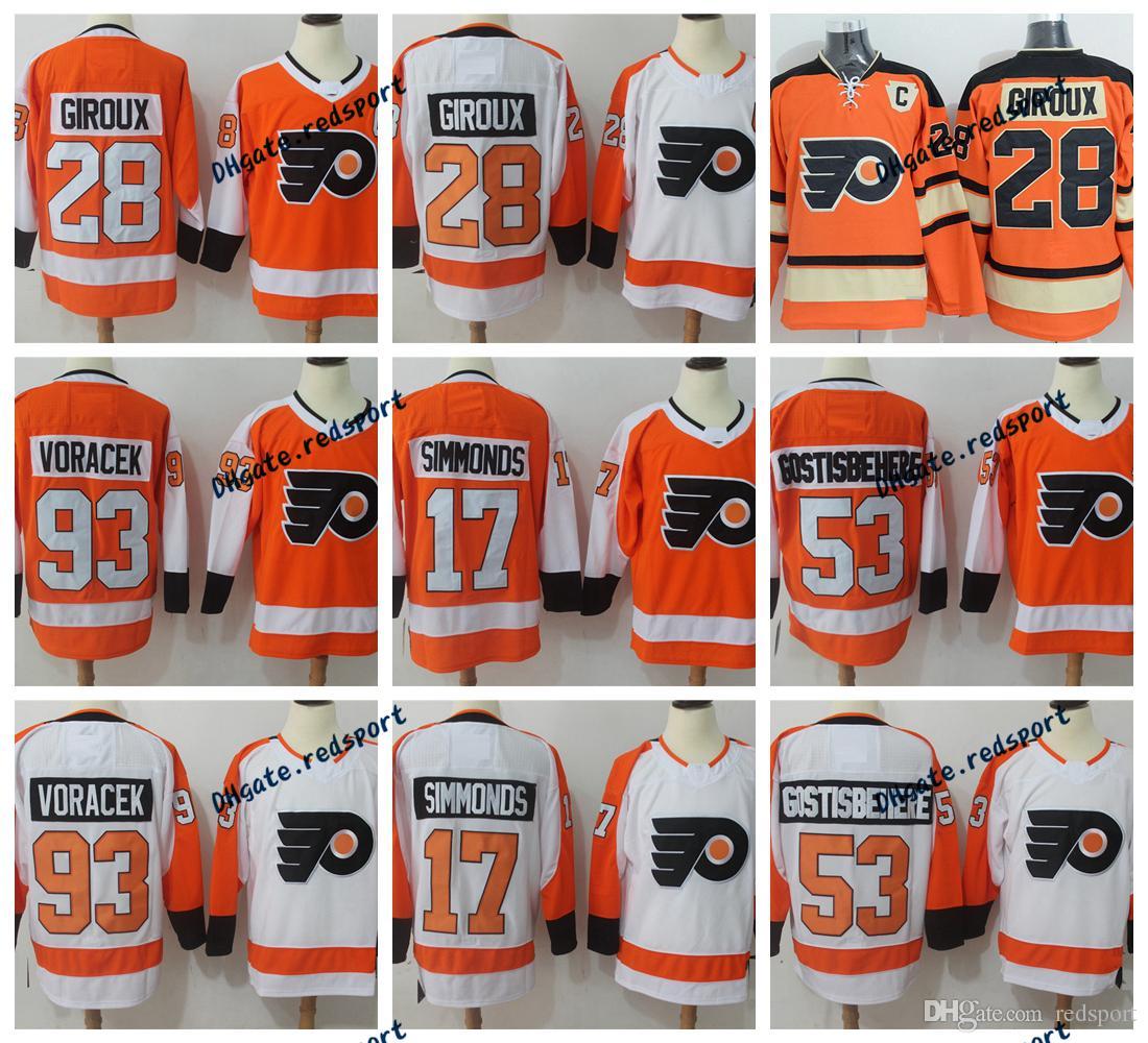 682c8d940 2019 2017 AD New Philadelphia Flyers 28 Claude Giroux 53 Shayne  Gostisbehere 17 Wayne Simmonds 93 Jakub Voracek Winter Classic Jerseys From  Redsport