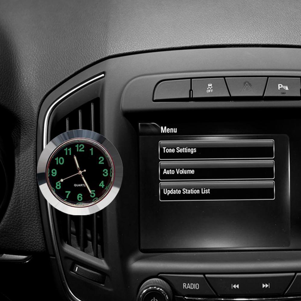 Car Clock Watch Ornaments Mini Car Decoration Air Vent Clip Quartz