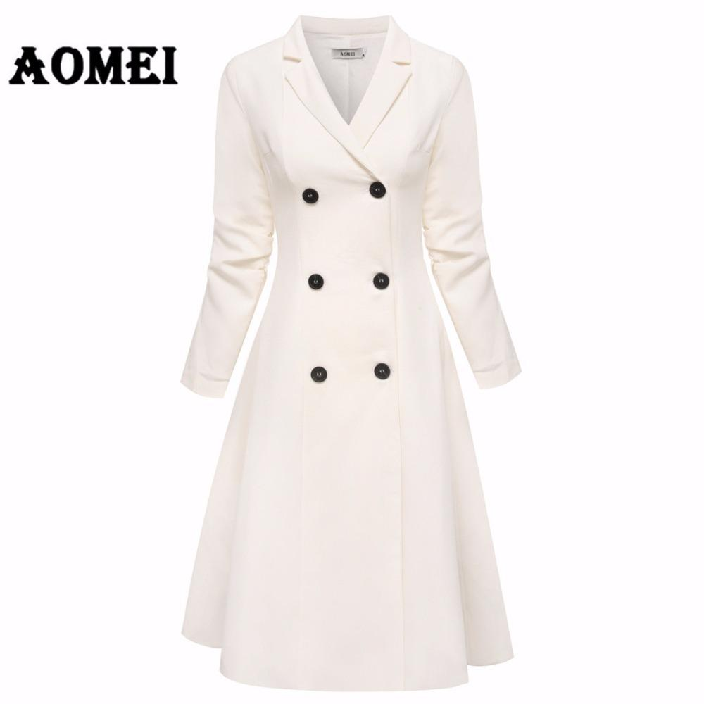 859e37917ff0 Office Lady White Blazer Dresses Suits Jackets Workwear V Neck With Double  Button Midi Suit Dress Clothing Winter A Line Tunics Floral Cocktail Dresses  ...