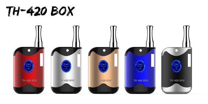 New Mini Box Mod TH-420 A3 Cartridges G2 Atomizer Cartridges Vape Pen Starter Kits 650mAh Adjustable Variable Voltage Battery Pen Kits
