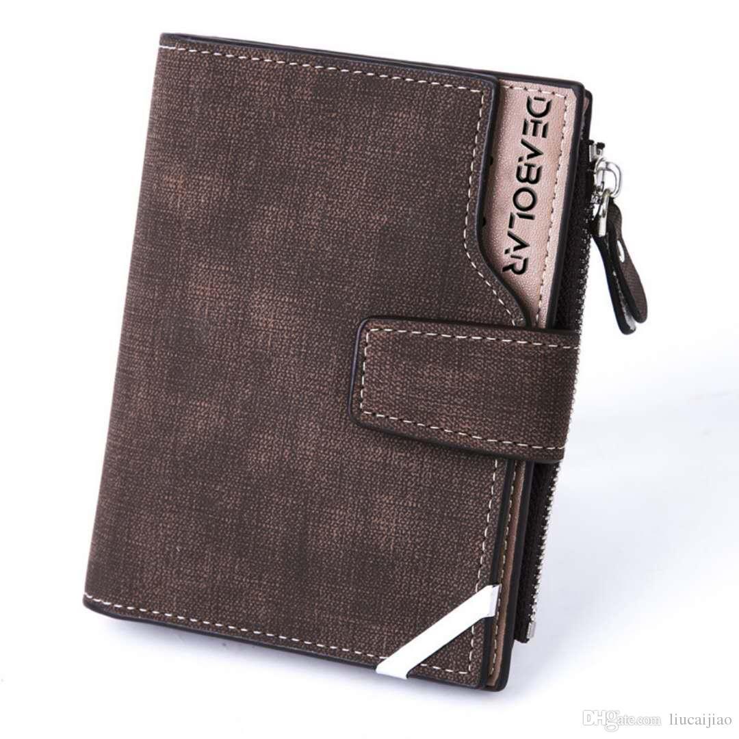 3a4f7fbbf5 Men s Wallet Full Grain Leather Wallets Credit Card Holder Bifold Brown