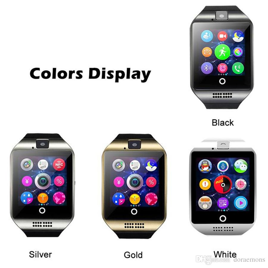 Q18 Bluetooth Smart Watch Apro Sports Mini Camera For Android iPhone Samsung Smart Phones GSM SIM Card Touch Screen For Iphone 6 7 8 X