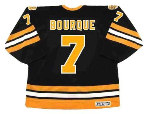 07118834fd4817 RAYMOND BOURQUE Boston Bruins 1982 CCM Vintage Turn Back Away Hockey ...