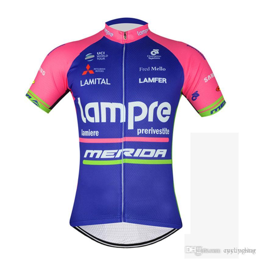 Tour De France Pro Team Lampre Cycling Jersey Mtb Bike Clothing Bicycle  Clothes Short Sleeves Shirt Maillot Roupa Ciclismo Sportswear A1406  Waterproof ... 19ddd1694