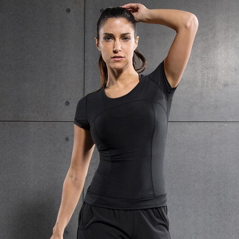 738c65604e4 Women Yoga Shirt Short Sleeve Sports Tops Breathable Polyerster Tees  Fitness Yoga Clothes Ladies Sportswear