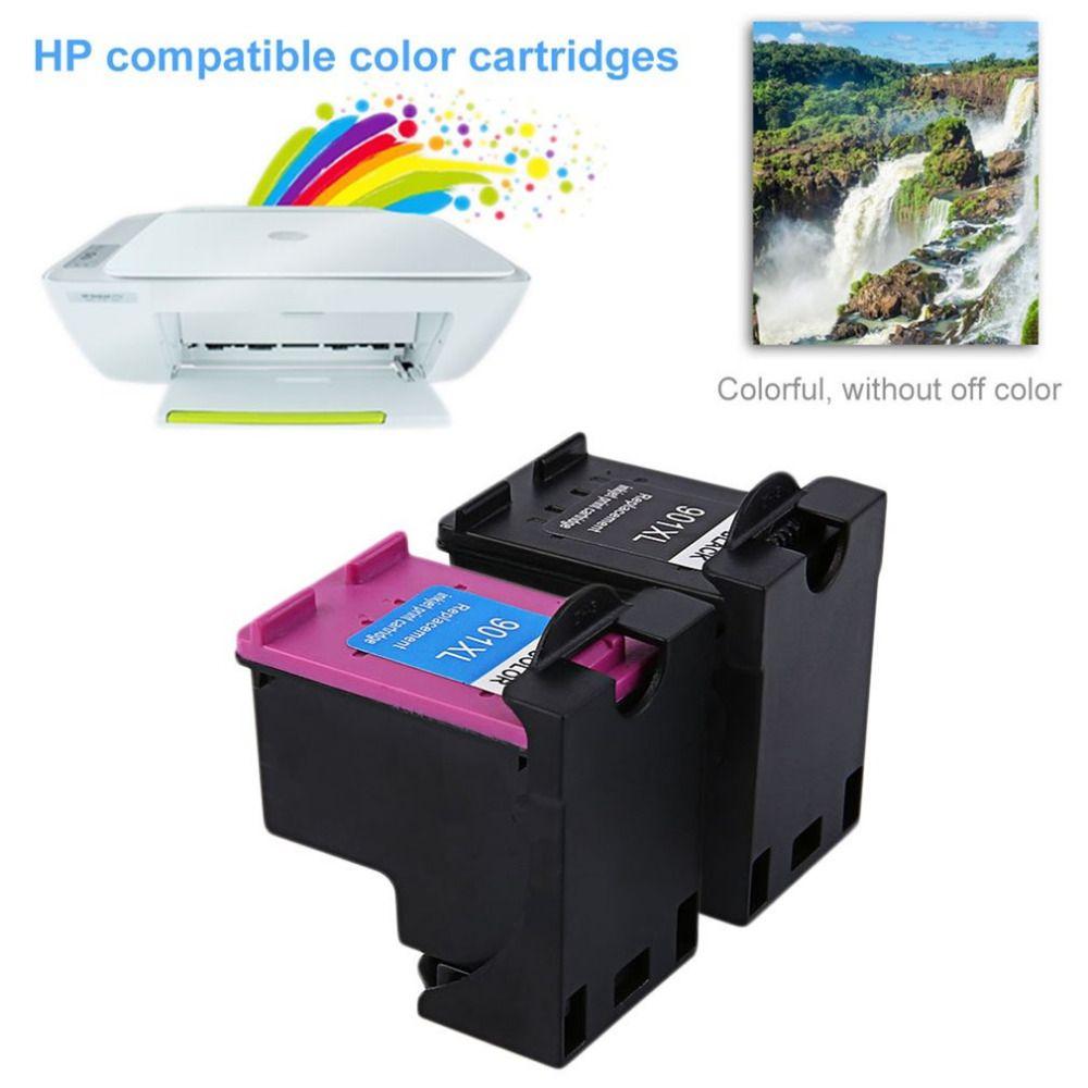 2Pcs 901 For HP901 XL HP901 Color/ Black Ink Cartridges For OfficeJet 4500  J4580 J4550 J4540 J4680 J4535 Printer