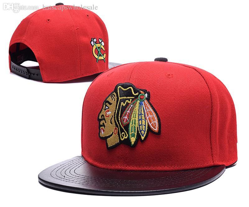 Men'S Red Color Chicago Blackhawks Snapback Hat Logo Embroidery Sport Nhl  Adjustable Ice Hockey Caps Flat Leather Visor Baseball Hats Cheap Hats  Richardson ...
