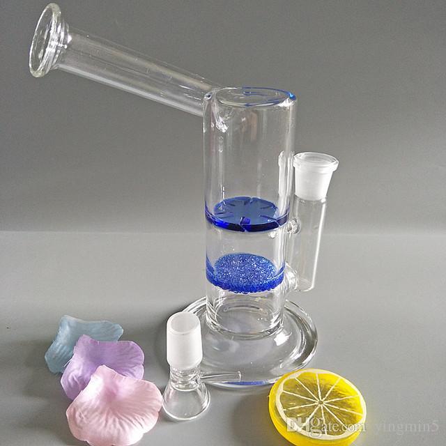 Vente chaude de grande qualité et bon marché verre bong verre fumer tuyau tuyau d'eau en verre bongs avec disque fritté et turbine perc GB-228-F