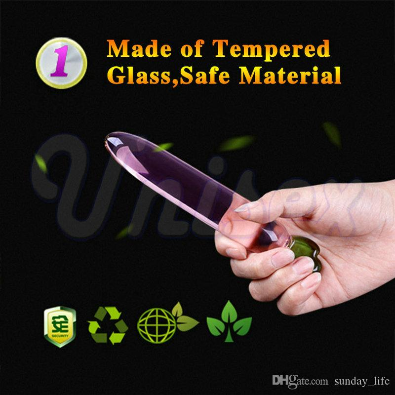 !!!Cute Fruit Glass Crystal G-Spot Jelly Dildos Game Penis Anal Sex Toys for Couple, Erotic Adult Sex Products for Women