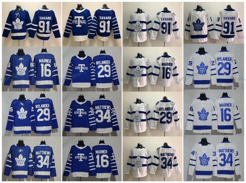 1fd0cc63123 2018-2019 Toronto Maple Leafs 91 John Tavares 16 Mitch MARNER 34 Auston  MATTHEWS 91 John Tavares Kid Women Men s Hockey Jerseys Hockey Jerseys  Online with ...