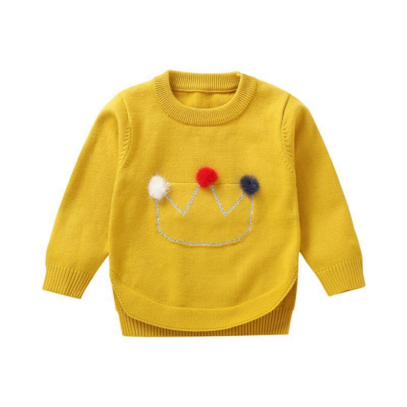 1090e2ea8294 2018 New Autumn And Winter Girls  Sweaters Cotton Fashion Children ...