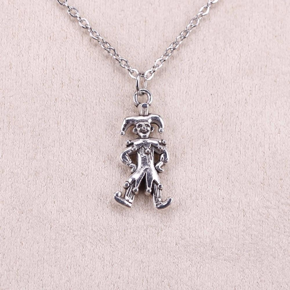 New Fashion Silver Pendant Clown Joker Jester 25 12mm Necklace Women  Exquisite Choker Necklace Jewelry UK 2019 From Clintcapela 61fb5c60d