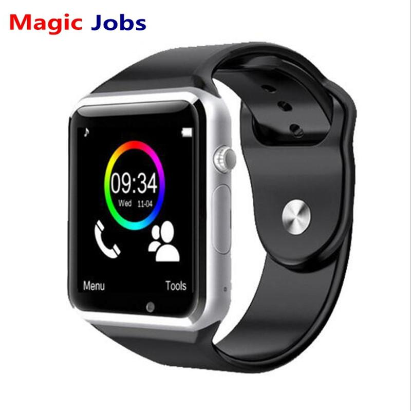 Magic_Jobs A1 Smart Watch With Passometer Camera SIM Card Call Smartwatch For Huawei Xiaomi HTC Android Phone Better Than GT08 DZ09