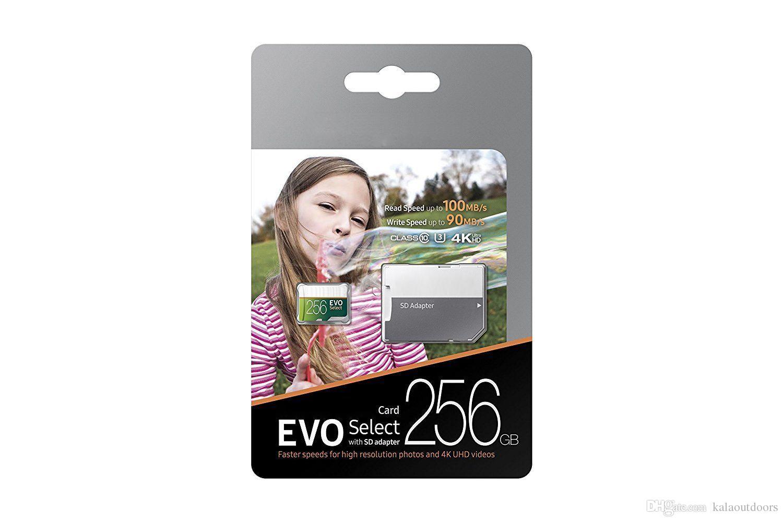 베스트 셀러 32GB 64GB 128GB 256GB 100MB / S TF 플래시 메모리 카드 클래스 10 무료 SD 어댑터 소매 블리스 터 패키지 EPACKET DHL FREE SHIPPHING