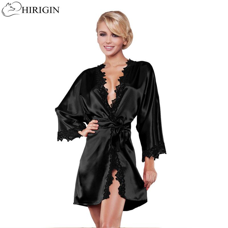 c8c005e40a8 2019 HIRIGIN Ladies Sexy Silk Satin Night Dress Sleeveless Nighties V Neck Nightgown  Nightdress Lace Sleepwear Nightwear For Women From Vanilla04
