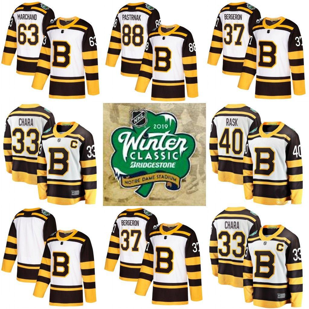 2019 2019 Winter Classic Boston Bruins Bobby Orr Zdeno Chara Patrice  Bergeron 40 Tuukka Rask David Krejci Brad Marchand 88 David Pastrnak Jersey  From B2bcn cee5a8a53