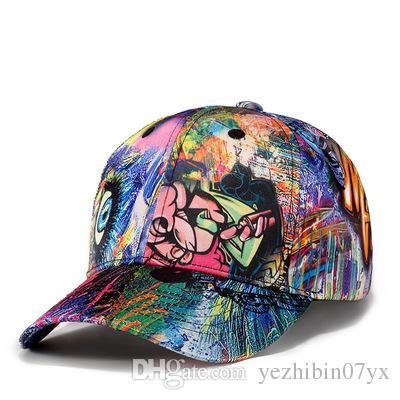 2018 New Fashion Graffiti Snapback Hats Baseball Caps Designer Hat ... 6e5c83b34b90