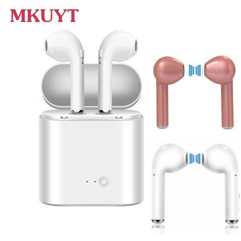 03426a9a0c2 Auriculares Manos Libres Auriculares Inalámbricos Bluetooth Auriculares  Estéreo Para Deportes Para IPhone 7 Plus 7 6s 6 Más Samsung Xiaomi Para  Huawei LG ...
