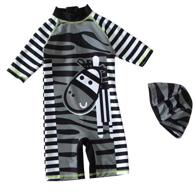 e6652e0d178ff 2019 Children Swimsuit Baby Boys Swimwear Baby Zebra Striped Sunscreen Fast  Dry Surfing Suit Swimming Trunks From Namenew, $30.35 | DHgate.Com