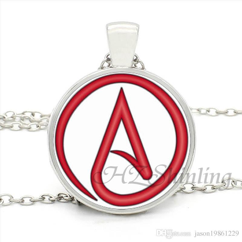 Wholesale Hz1 Mini 0017 Hot Selling Atheist Symbol Pendant Necklace