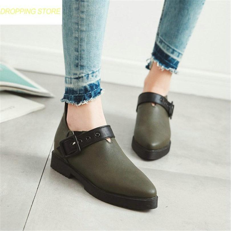 70542f5df414 Chic Chelsee Boots Womens Buckle Strap Low Heel Punk Ankle Boots Pointed Toe  Platform Party Oxfords Casual Shoes Boots For Women Black Boots From  Tasehook