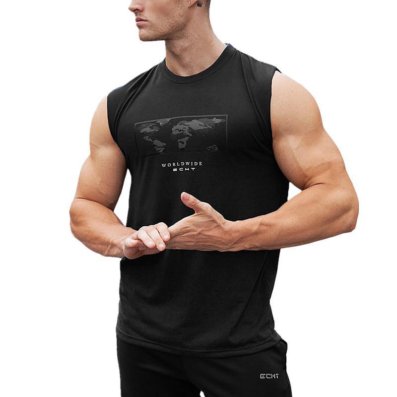 b009b0345c4a9b Hot Clothing Casual Men O -Neck Tank Tops Summer Male Bodybuilding  Sleeveless Vest Gymclothing Mens Fitness T Shirt Tank Tops Mens Fitness T  Shirt ...