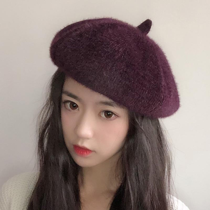 fcd9662911ba2 HT1958 High Quality Berets Retro Artist Painter Women Hat Solid Plain  Autumn Winter Hat Ladies Soft Warm Beret Female Berets Canada 2019 From  Sihuoguo