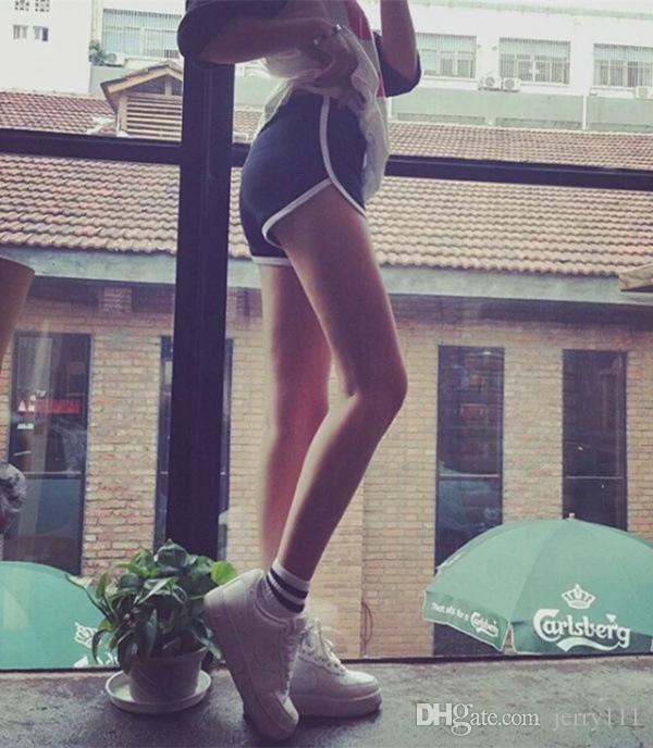 여름 여성 캐주얼 반바지 여자 스포츠 요가 코튼 반바지 여자 11 색 레저 조깅 Drawstring 반바지 LC709