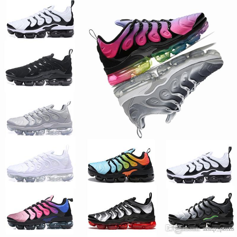 82e5688da128d7 New TN Plus Men Designer Trainers Air Cushion Running Shoes Silver Triple S  Black White Grey Hyper Violet Men Sports Sneakers Designer Shoes Tn Tn Plus  ...