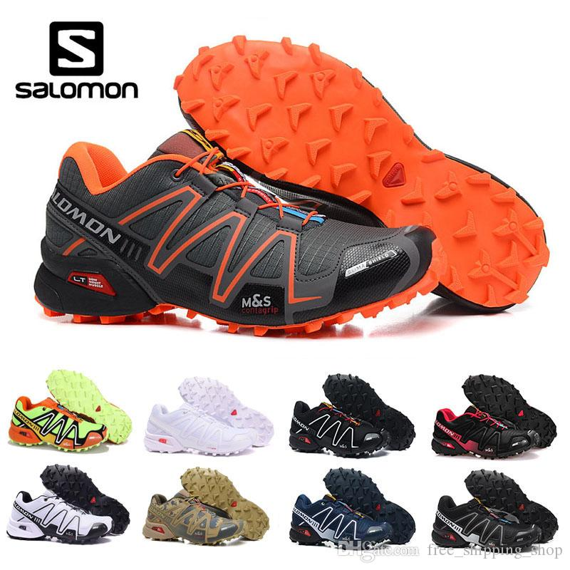 sports shoes 32716 7d2de Salomon Speed Cross 3 Orange Yellow Black White Red Mens Outdoor Sport  Brand Light Shoes Lace Up Breathable Running Sneaker Shoes Eur 40 46 Best  Shoes For ...