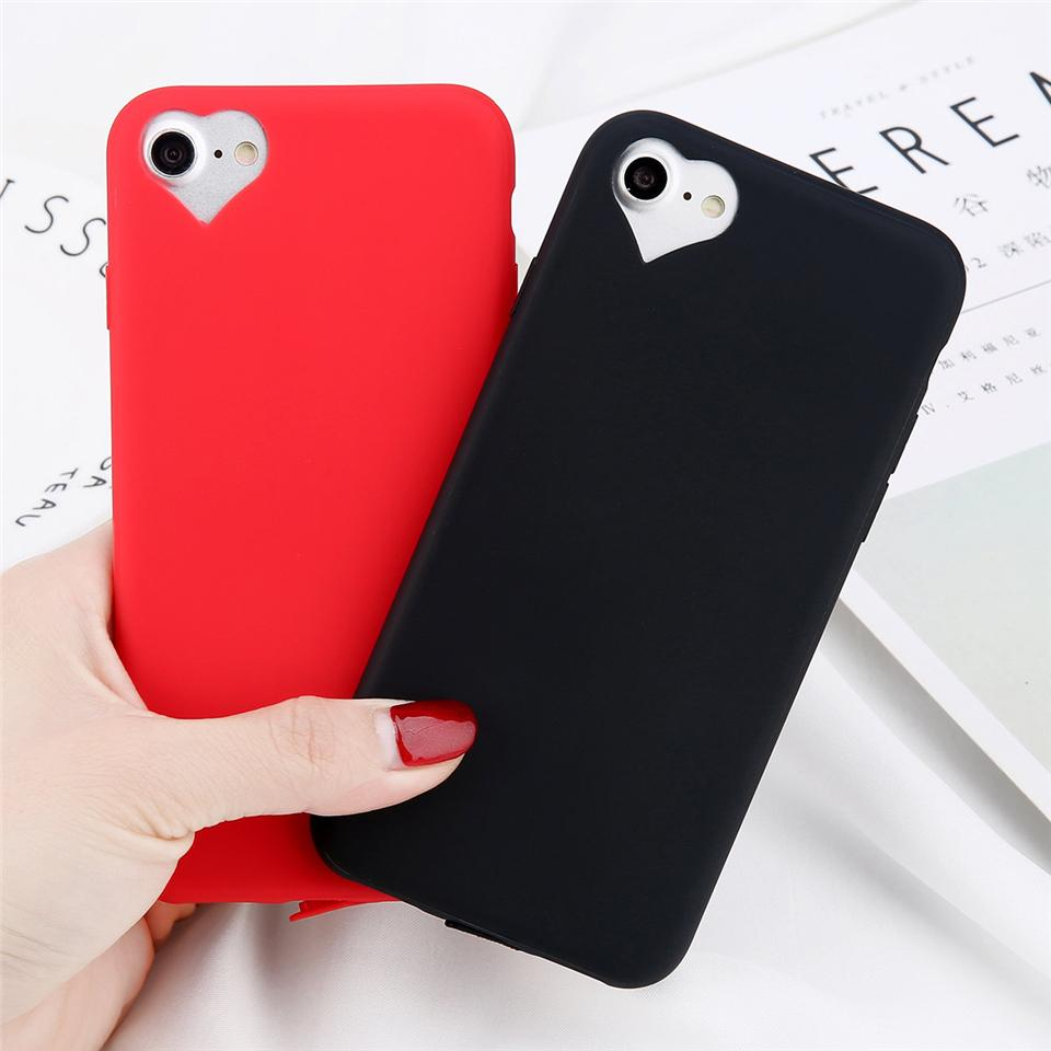 phone cases for iphone 6 6s 7 8 plus 5 5s se fashion candy solidphone cases for iphone 6 6s 7 8 plus 5 5s se fashion candy solid color love heart soft tpu case cell phone cases cheap custom leather cell phone cases from